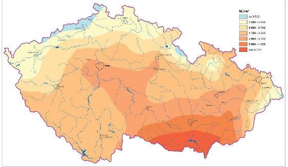 Solární energie - mapa